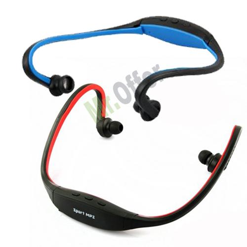 Cuffia sport senza fili colorate, Auricolari con lettore mp3 e radio ...