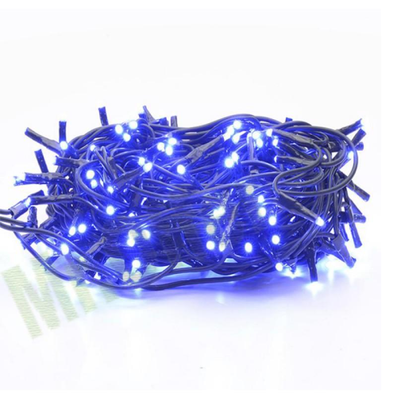 Serie lampadine di natale 4,5 metri luce blu per addobbi natalizi 100 mini lu...