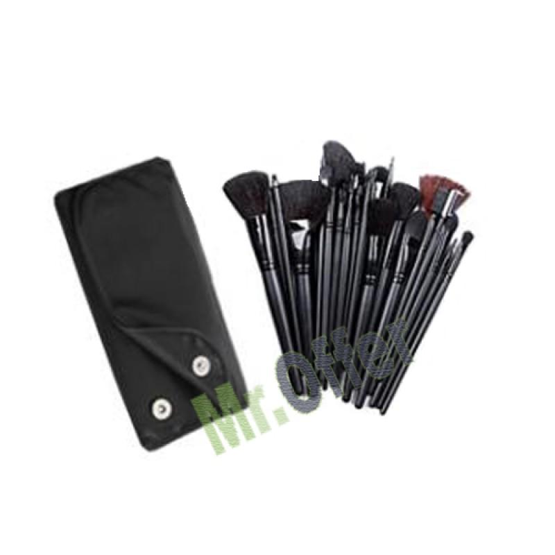 Set kit 18 pennelli trucco make up pochette portapennelli - Porta trucchi professionale ...