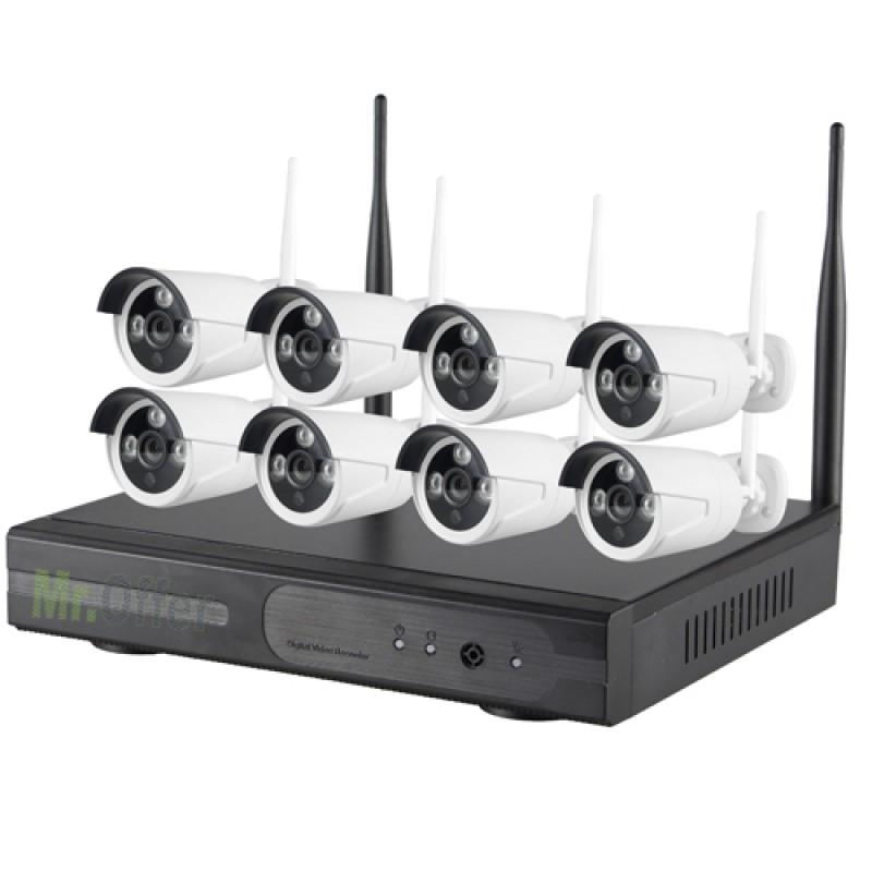 kit videosorveglianza wireless Ip 8 canali. DVR HD 1TB con 8 telecamere wifi senza fili ...