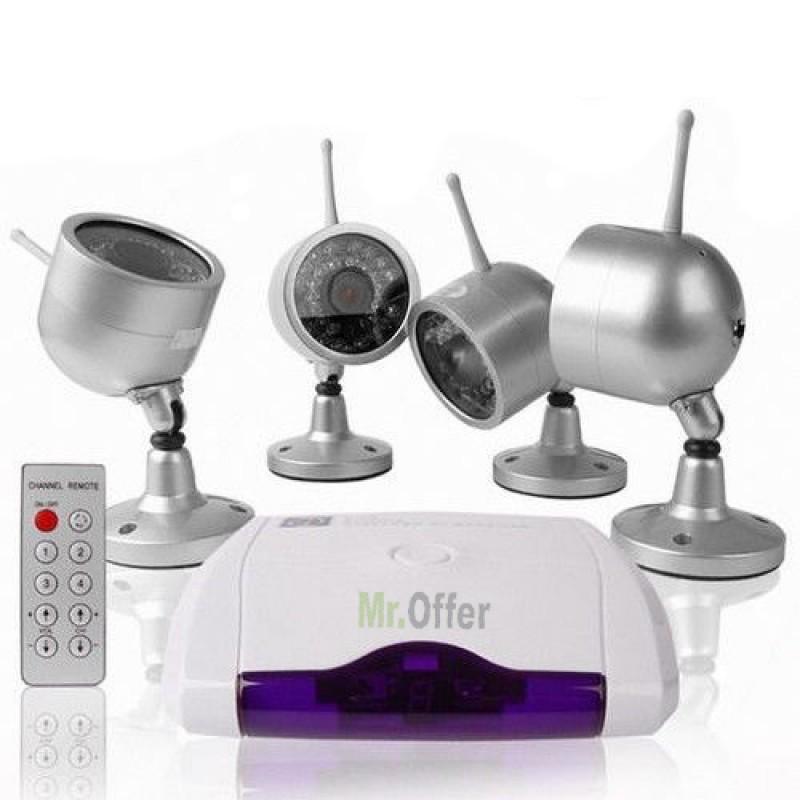 Kit Videosorveglianza con 4 telecamere 30 led senza fili telecamera wireless  eBay