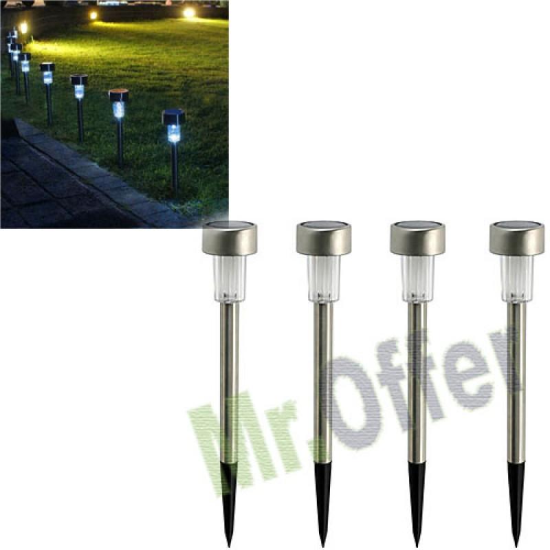 Lampada Con Pannello Solare Per Esterno : Lampada solare da giardino con crepuscolare segnapassi