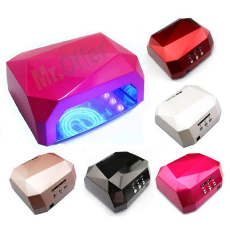 Lampada led 36w ricostruzione unghie lampade UV CCFL nail art fornetto con timer  eBay