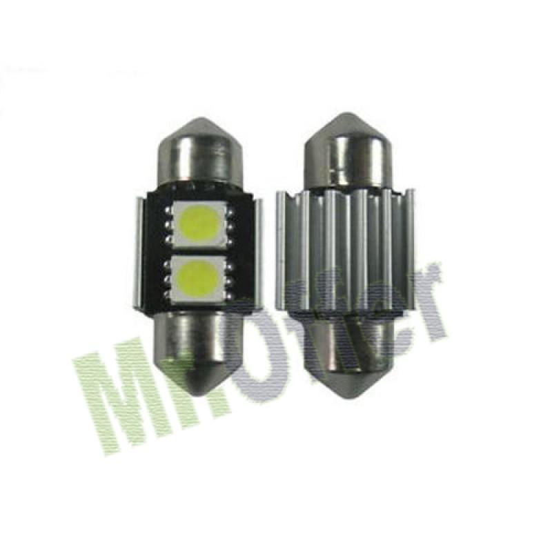 2 lampadine coppia auto siluro canbus 2 led no errore for Lampadine led per auto