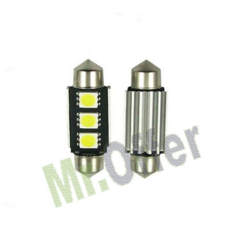 10 lampadine auto siluro 3 led no errore lampadina lampade for Lampadine led per auto