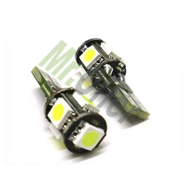 Coppia lampade canbus 5 led no errore lampadine per fari for Lampadine led per auto