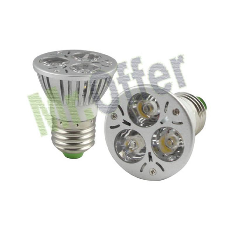 lampadina basso consumo : Lampadina basso consumo 3 led da 1 watt attacco grande