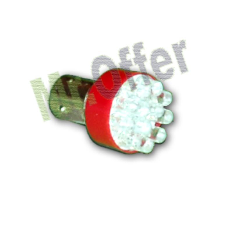Coppia lampade 12 led 12v bulbi a luce rossa lampadine per for Lampadine led per auto