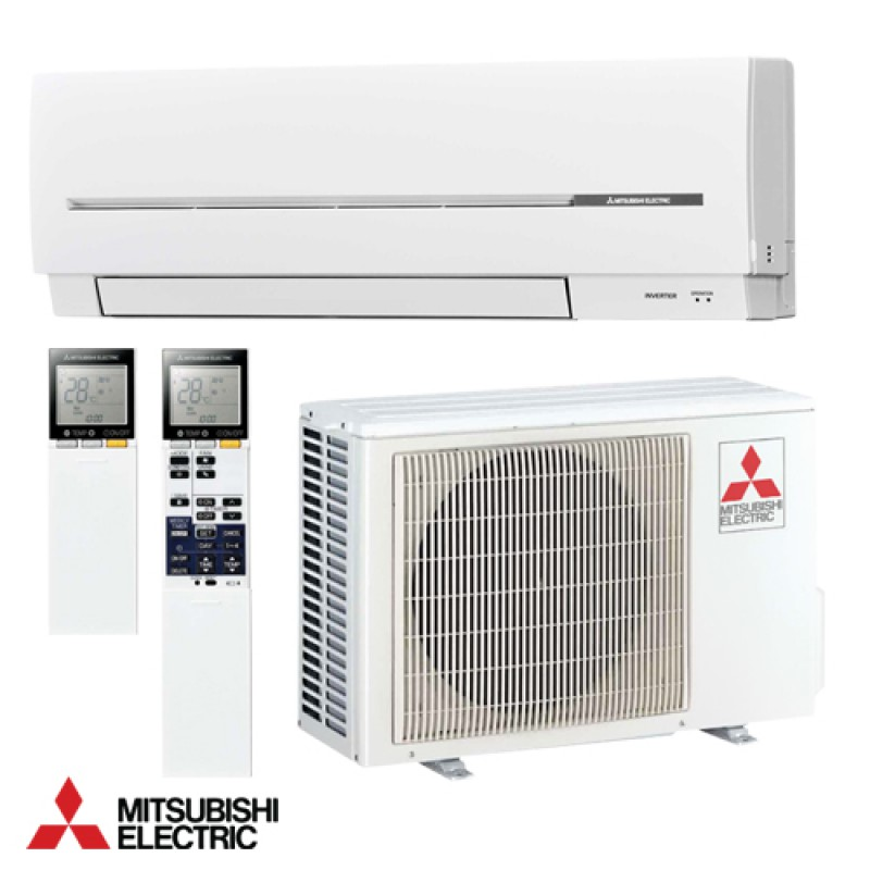 Conditionneur d 39 air mitsubishi lectrique convertisseur for Climatiseur mural 24000 btu