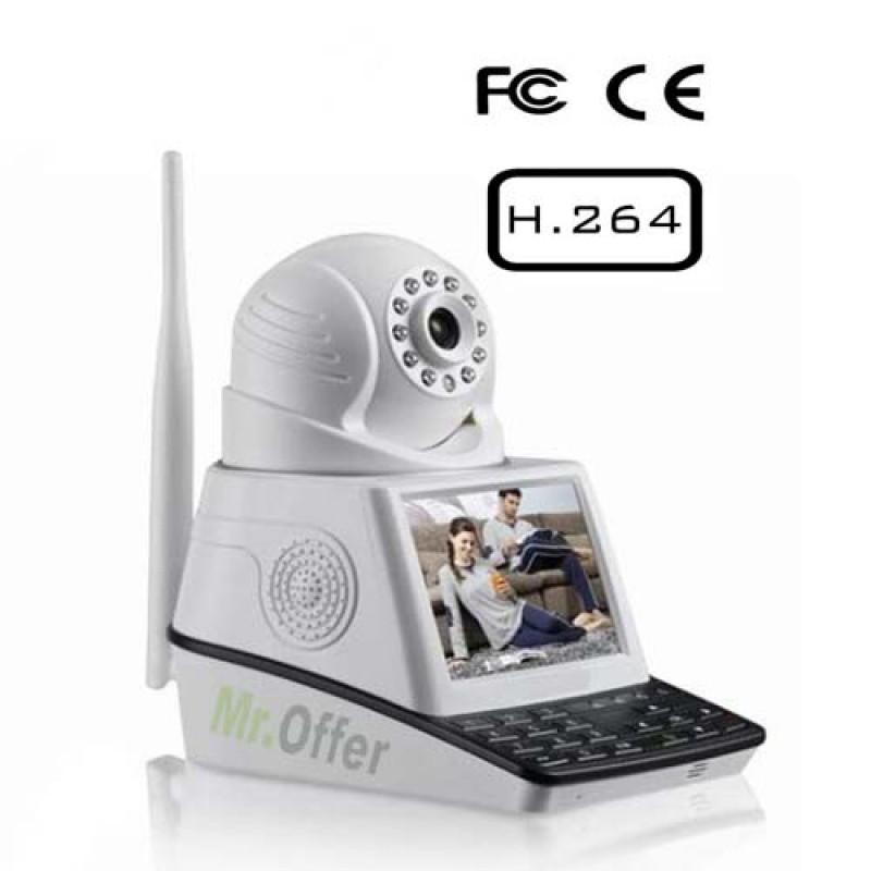 Telecamera IP con slot SD allarme wireless telecamere monitor videochiamata  eBay