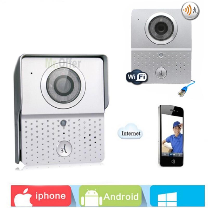 Videocitofono wifi wireless telecamera infrarossi 6 led - Campanello casa senza fili ...