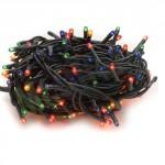 Serie lampadine di natale multicolor 6 metri con 100 mini lampade da esterno, catena di luci natalizie
