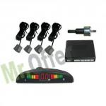 Kit 4 sensori parcheggio posteriori, sensori di retromarcia per auto con display led e segnale acustico.
