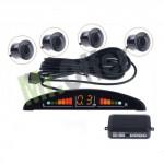 Sensori di parcheggio filo auto per retromarcia colore nero con display led e segnale acustico, sensori di movimento
