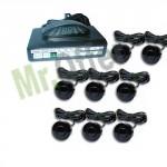 Kit sensori di parcheggio da 8 colore nero con display led e segnale acustico, sensori di retromarcia verniciabili