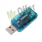 Scheda audio 3D sound adattatore USB 5.1 per Pc e notebook