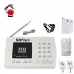 Kit antifurto casa wireless, allarme casa senza fili già programmato con combinatore telefonico e sirena interna