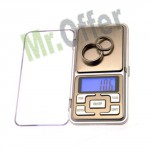 Bilancino di precisione da 0,1gr a 500gr, mini bilancia tascabile per uso professionale
