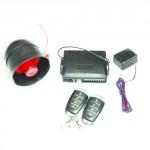 Antifurto auto antirapina con telecomandi e blocco motore, kit allarme universale per auto e camper con sirena.