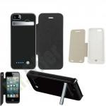 Flip cover con batteria integrata 2800mAh per IPhone, caricabatterie con custodia da viaggio per telefono Iphone 5S