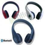 Cuffie stereo bluetooth iphone lettore MP3 e Micro Sd 16GB inclusa, cuffia wireless senza fili con radio FM e display