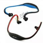 Cuffia sport senza fili, lettore mp3 e radio FM, cuffie auricolari wireless con micro SD 8 GB inclusa