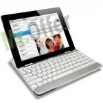 Tastiera qwerty bluetooth per ipad 2, tastiere in alluminio per tablet Apple