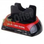 Docking station doppio per Hard disk 2,5 e 3,5 Sata/Ide All in One, lettore di memorie