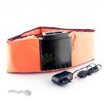 Cintura vibrante con elettrostimolatore, fascia gym form dual shaper ideale per gambe, addominali e cellulite