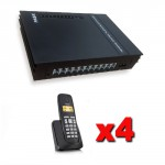Kit Centralini telefonici analogici PABX 3 linee esterne e 8 interni completi di 4 telefoni cordless Gigaset