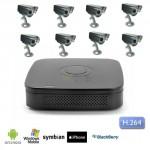 Kit Videosorveglianza 8 canali con DVR, HD 1TB con 8 telecamere Sony CCD 48 led 600 TVL