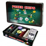 Set poker professionale 300 fiches, il kit comprende 300 chip poker e 2 mazzi di carte da gioco