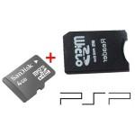 Memoria Micro SD Sandisk 4 GB + Adattatore Sony PRO DUO