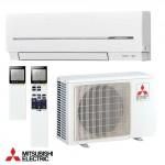 Condizionatore mitsubishi electric inverter 9000 btu da parete, climatizzatore monosplit con pompa di calore