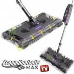 Scopa elettrica rotante Swivel Sweeper Max con batteria ricaricabile, scope rotanti 360 gradi con batterie ricaricabili