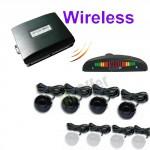 Sensori di parcheggio posteriori wireless da 4, kit retromarcia auto con display led e segnale acustico