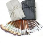 Set 24 pennelli professionali makeup, pochette porta pennelli trucco per estetiste e truccatori