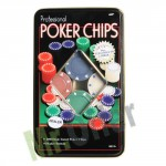 Set poker professionale 100 fiches, kit per giocare poker