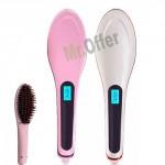 Spazzola termica lisciante elettrica per parrucchieri, spazzole riscaldate per capelli ricci