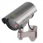 Telecamere finte da esterno con staffa, telecamera di sorveglianza finta con led rosso lampeggiante