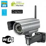 Telecamera videosorveglianza professionale IP wireless da esterno CMOS 300 Pixel 24 Led, camera ip wifi p2p waterproof