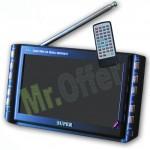 Televisore 9 pollici con digitale terrestre, televisori lcd 9 pollici con decoder e lettore SD, mini Tv con ingresso usb e cuffie