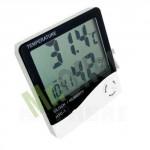 Termometro igrometro digitale temperatura umidità, termometri igrometri con orologio digitale