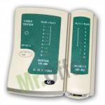 Tester reti lan e cavi cat.5 RJ45 e cavi telefonici RJ12, RJ11, RJ10 a led