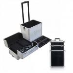 Trolley trucco make up professionale per estetiste e truccatori, valigetta porta trucchi professionali