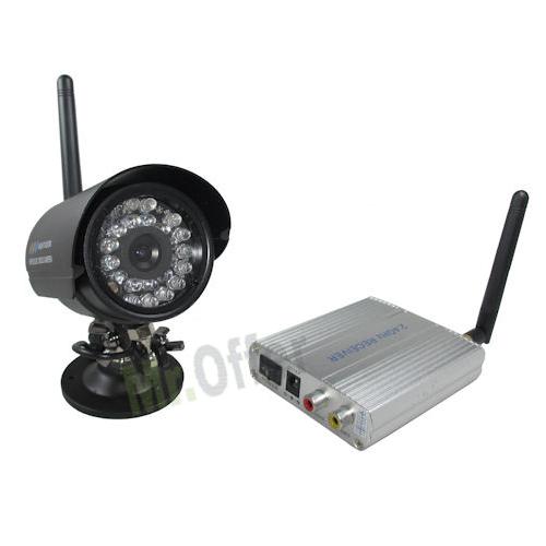Telecamera videosorveglianza wireless da esterno con ricevitore 4 canali, telecamere senza fili ...